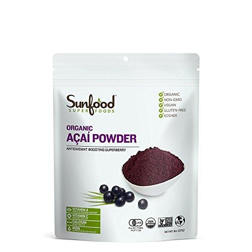 Sunfood Acai Powder, Certified Organic, Non-GMO, Raw, 8oz (Organic Freeze Dried Acai Powder compare prices)