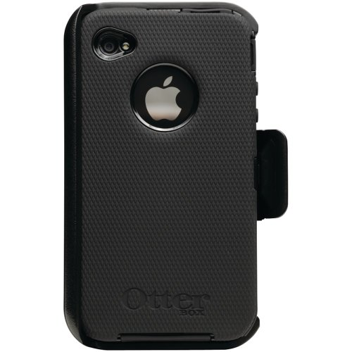 OtterBox Universal Defender Case for iPhone 4 (Black Silicone & Black Plastic)