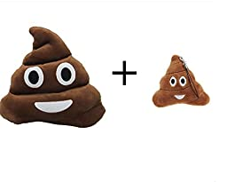 DDLBiz Hot Soft Emoji Cute Cushion Shit Poop Poo Pillow Stuffed Toy Doll Gifts Xmas Christmas Present (A)