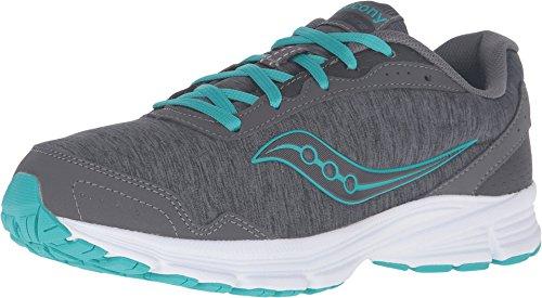 Saucony Women's Sapphire Running Shoe, Grey/Heather/Teal, 7 M US