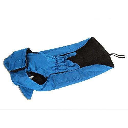 Hundemantel Regenmantel Hund Hundebekleidung Hundejacke Wintermantel Regenjacke-Blau (L) -