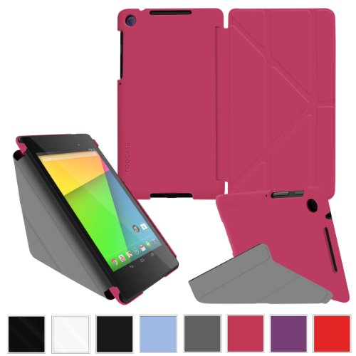 roocase-google-nexus-7-2013-fhd-case-2nd-gen-2013-model-origami-slim-shell-cover-magenta-with-auto-w