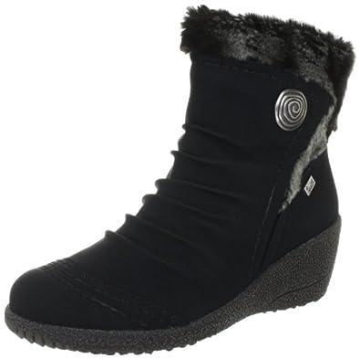 Rieker Y0363-01, Boots femme - Noir-TR-F4-27, 41 EU