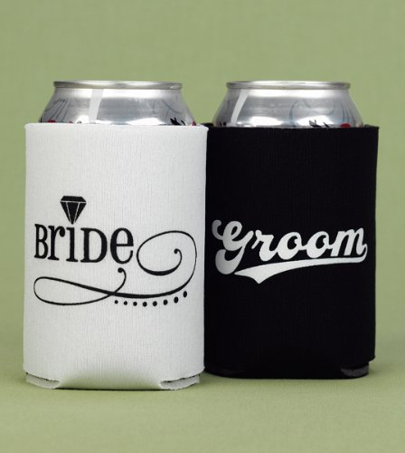 Bride & Groom Can Coolers front-611711