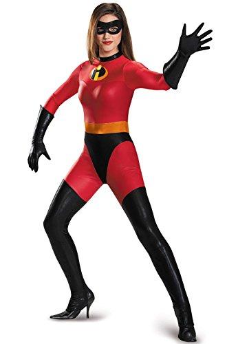 [Mememall Fashion Mrs. Incredible Bodysuit Costume Adult Costume] (The Incredibles Mrs Incredible Costumes)