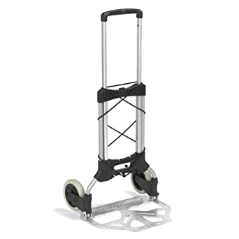 """Wesco 220649 Steel Maxi Mover Lightweight Folding Truck, 250 lbs Load Capacity, 42"""" Height, 12"""" Length x 19"""" Width"""
