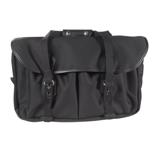Billingham 555 Black Canvas Camera Bag with Black Leather Trim