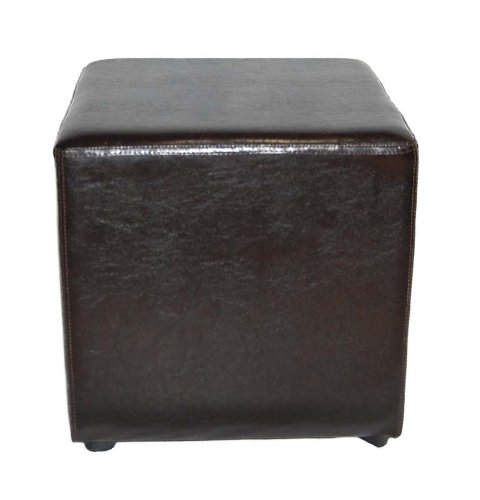 Essential Décor Entrada Collection Square Ottoman, 17 by 17-Inch