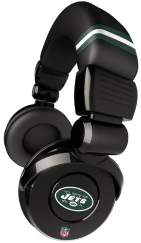 iHip Official NFL - NEW YORK JETS - Noise Isolation Pro DJ Quality Headphone