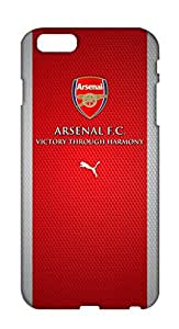 Zupaco Hard Case Plastic Back Cover for Apple iPhone 6 Plus / iPhone 6+ Arsenal Footbal Club Theme Printed Designer Cover