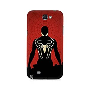 Ebby Spiderman In Black Premium Printed Case For Samsung Note 2