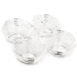 Diwali Gifts - Silver Spiral Bowls
