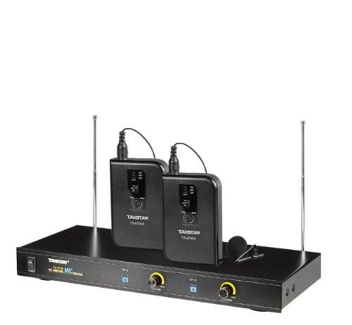 Takstar Ts-6700Pp Vhf 42-Channel Professiona Wireless Bodypack Microphone System 50M
