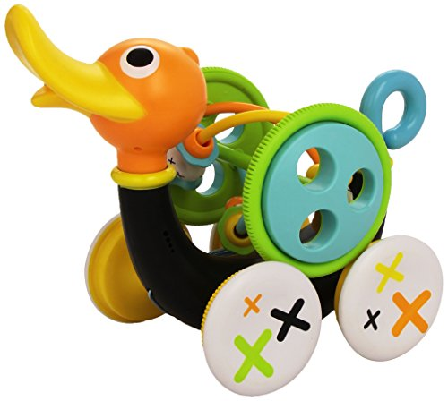 Pull Toy - Pull Along Duck Whistles As Toddlers Pull It (With Bead Coaster) by Yookidoo