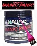 Manic Panic Amplified Hair Dye - Vegan Hair Dye - Shocking Blue & Pink Tint Brush