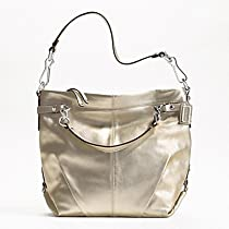 Hot Sale Coach 17165 Large Leather Brooke Gold Metallic Tote Handbag