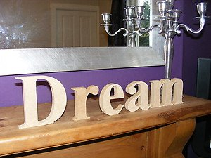 Cute and Curvy Brides Fab Wooden Freestanding Mdf Letters Dream Kitchen Sign Gift - 18mm