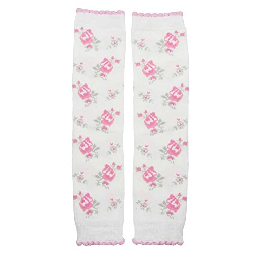 Shabby Roses Huggalugs Baby Leg Warmers Pink & White Ruffles