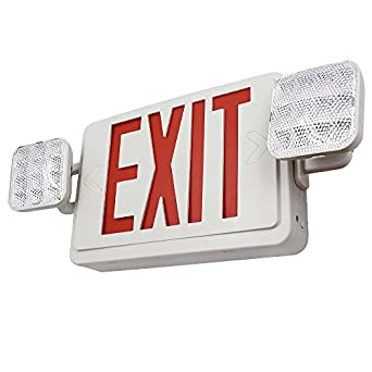 torchstar all led dual single face combo exit sign and. Black Bedroom Furniture Sets. Home Design Ideas