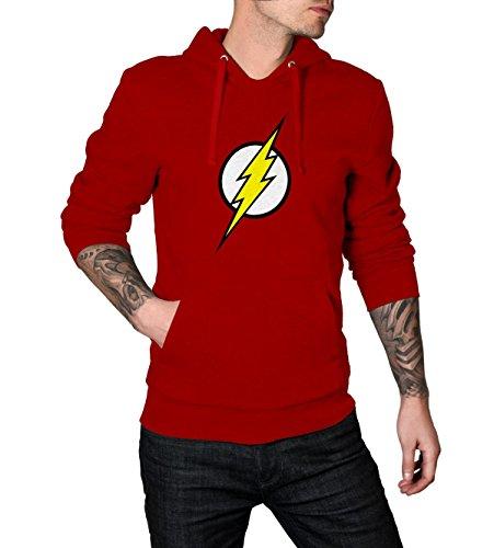Decrum The Flash Red Logo Superhero Pullover Hoodie For Men XL