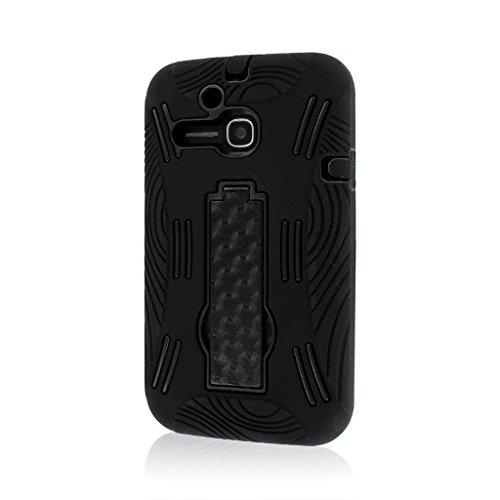 MPERO IMPACT XL Serie Ständer Case Tasche Hülle für Alcatel ONETOUCH Evolve 5020T - Schwarz