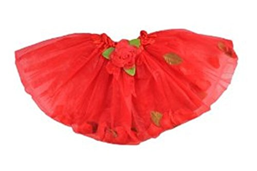 Red Floating Flower Petal Tutu in Tulle for Girls