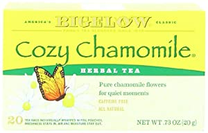 Bigelow Cozy Chammomile Herbal Tea, 20-count (Pack of6)