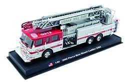 Pierce Rear Mount Ladder Fire Truck Diecast 1-64 Model (Amercom GB-11)
