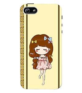 Fuson 3D Printed Girly Designer back case cover for Apple I Phone 5 / 5S - D4451