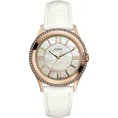 Guess W10267L1 Ladies MOONBEAM White Watch