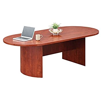 "Oval Conference Table - 96""W x 44""D Cherry Melamine Dimensions: 96""W x 44""D x 30""H Weight: 240 lbs."