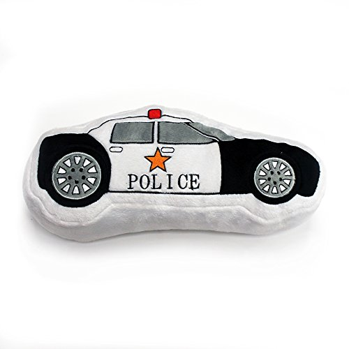 One Grace Place Teyo's Tires Decorative Pillow Police Car, Black, White, Grey, Orange, Red - 1