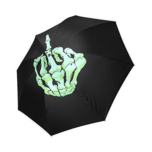 Funny Middle Finger Storm-Resistant Umbrella Compact Folding Travel Rain/Sun Umbrella