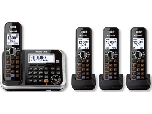 Panasonic KX-TG6844B DECT 6.0 4-Handset Cordless Telephone