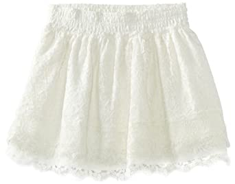 KC Parker Big Girls' Lace Skirt, Marshmallow, 8