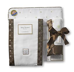 SwaddleDesigns Gift Set Little Dots, Pink/mocha