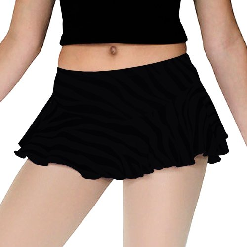 ChloeNoel Black Flare Ice Skating Skirt Girls 4-12 Adult XS-L
