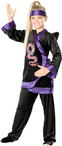 Purple Dragon Ninja Kids Costume