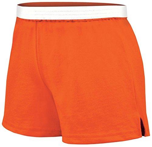 Practice Knit Short Orange Y Medium Jersey Knit Cheer Shorts
