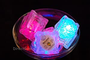 Six (6) Litecubes® Flashing LED Multi-Color Freezable Ice Cubes / Rocks