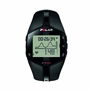 POLAR 90040139 Herren Trainingscomputer FT80, Black White