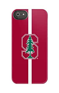 Uncommon Llc Stanford University Red Half Color Black Bezel Deflector Hard Case For Iphone 5/5S - Retail Packaging...