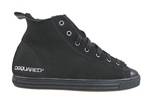 scarpe donna DSQUARED sneakers nero camoscio pelle AM632 (35,5 EU)