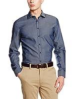 Seidensticker Camisa Vestir Super Slim (Azul)