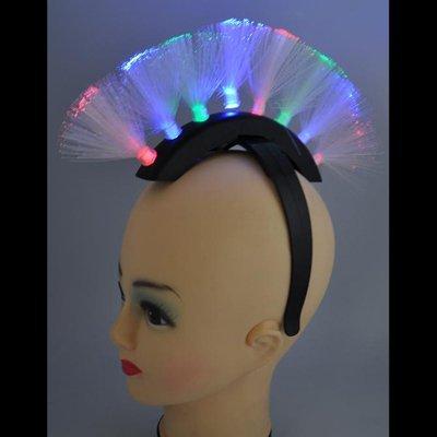 Toyland 48 X Rainbow Led Light Up Flashing Mohawk Headbands For Wholesale (Fl15)