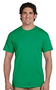 Hanes Men's TAGLESS 6.1 Short Sleeve Tee, S-Kelly Green