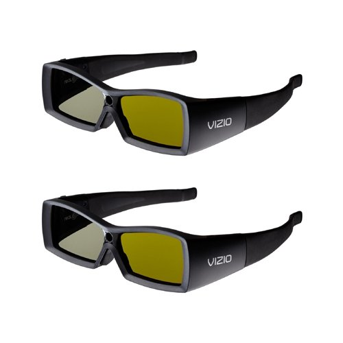 VIZIO VSG102 - 3D glasses - active shutter pack of 2