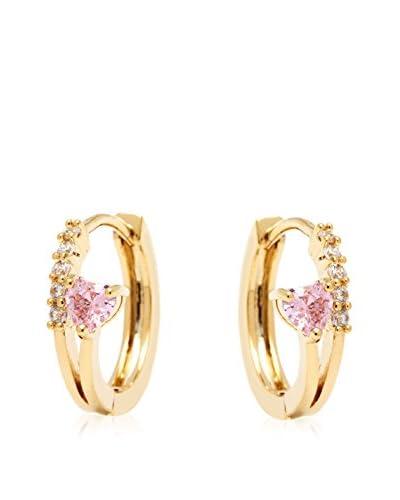 Sweet & Soft Gold Crystal Heart Swarovski Earrings