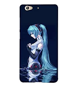 Blue Girl 3D Hard Polycarbonate Designer Back Case Cover for Gionee S6