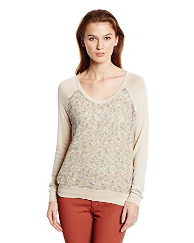 Three Dots Women's Contrast Raglan Top